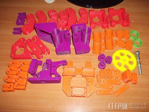 Prusa i2打印机轴承套件 3D模型  图1