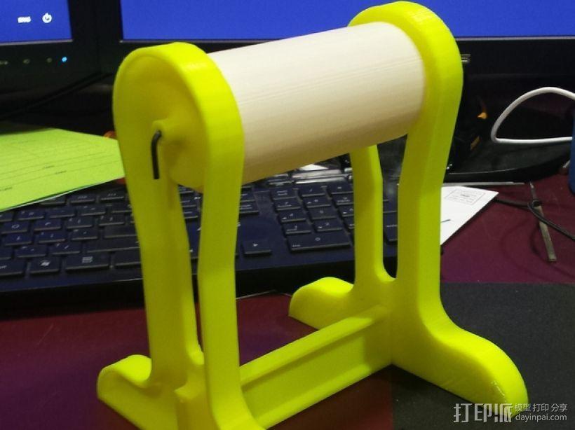 直立式线轴支撑架 3D模型  图1