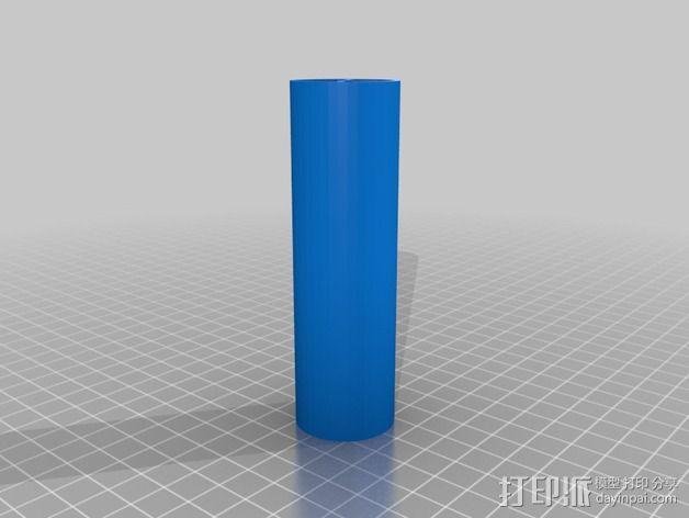 直立式线轴支撑架 3D模型  图3