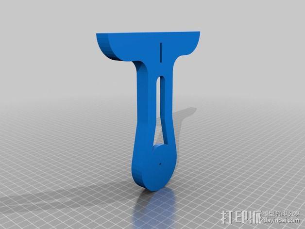 直立式线轴支撑架 3D模型  图5