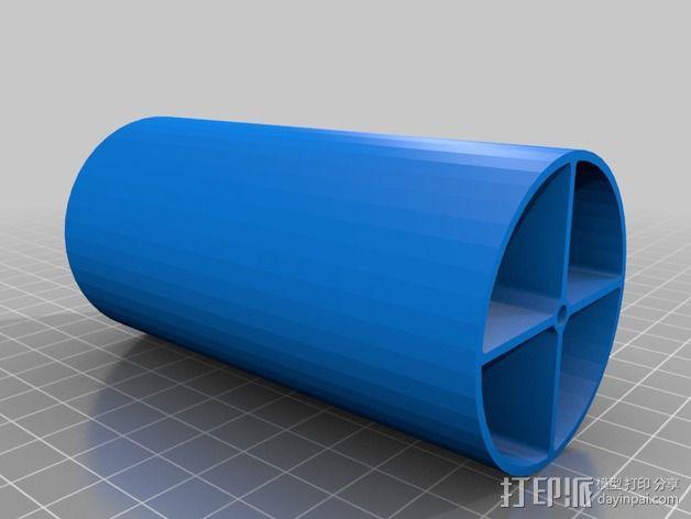 直立式线轴支撑架 3D模型  图4
