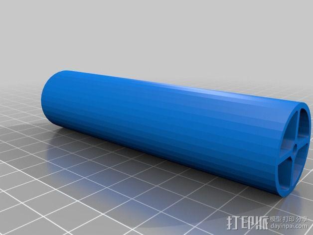 直立式线轴支撑架 3D模型  图6