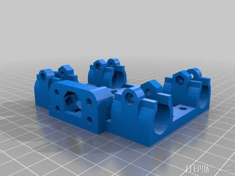 Mendel 打印机轴承固定器 3D模型  图1