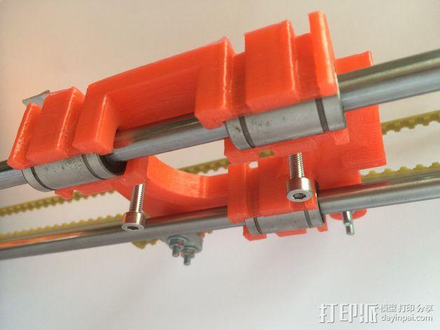 皮带固定器 挤出机支架  3D模型  图3