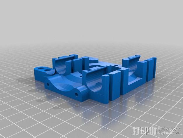 皮带固定器 挤出机支架  3D模型  图2