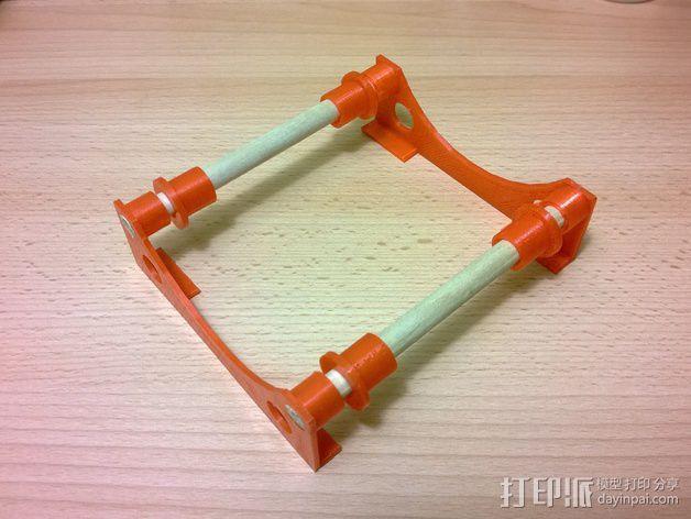 线轴固定器 线轴架 3D模型  图1