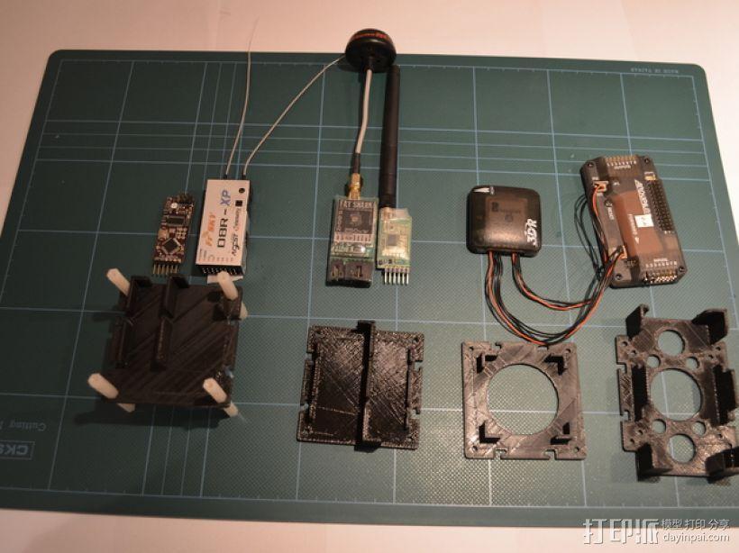 电路板保护罩 电路板支架 3D模型  图1