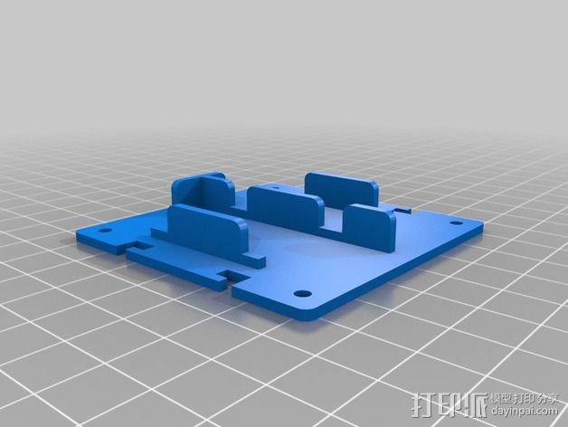 电路板保护罩 电路板支架 3D模型  图2