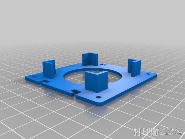 电路板保护罩 电路板支架 3D模型  图3