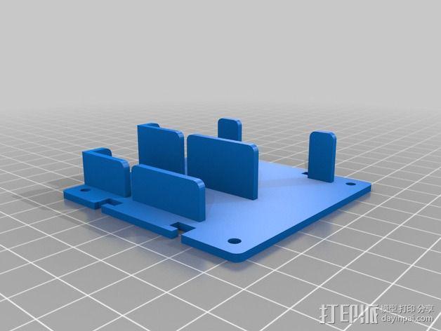 电路板保护罩 电路板支架 3D模型  图7