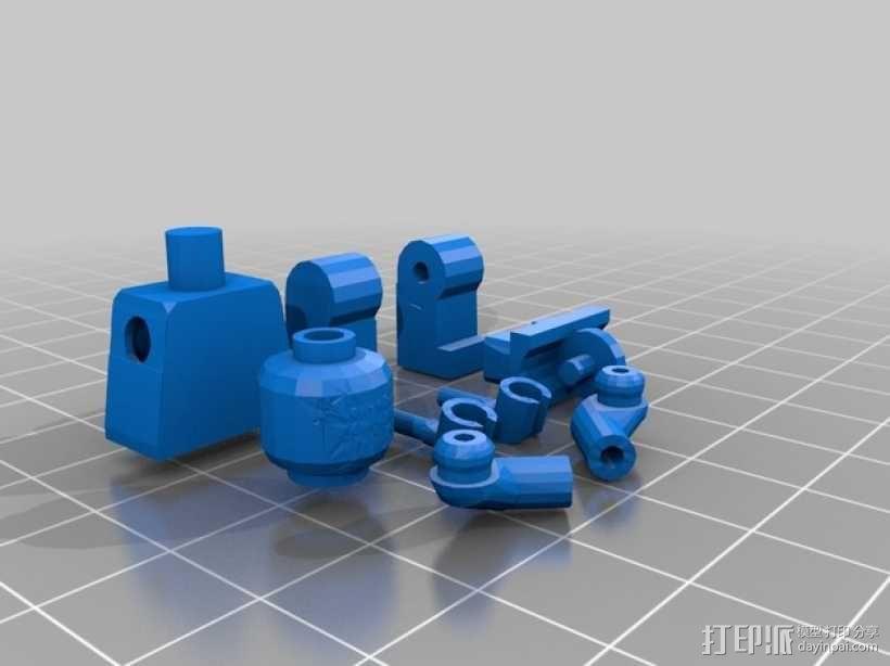 乐高小人偶 3D模型  图1
