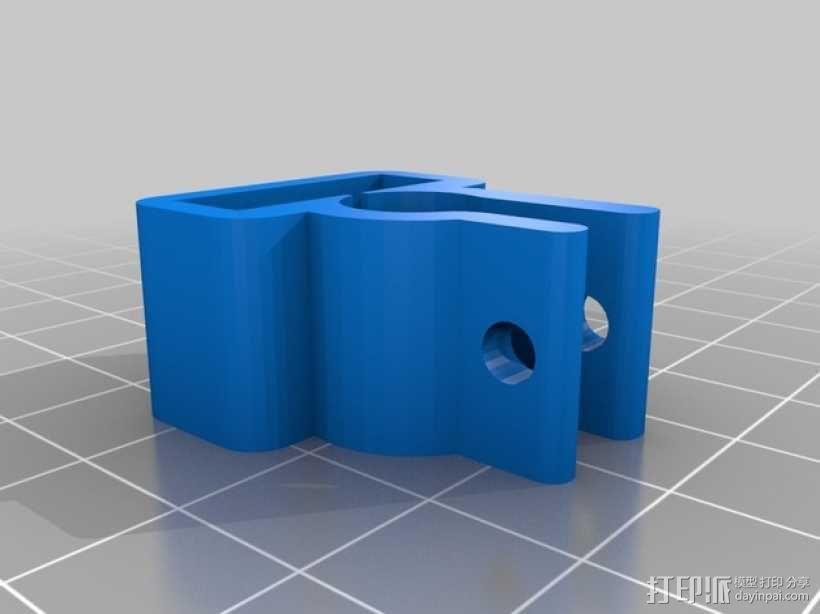 限位开关支架 3D模型  图2