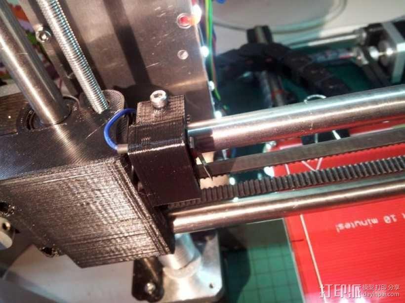 限位开关支架 3D模型  图1