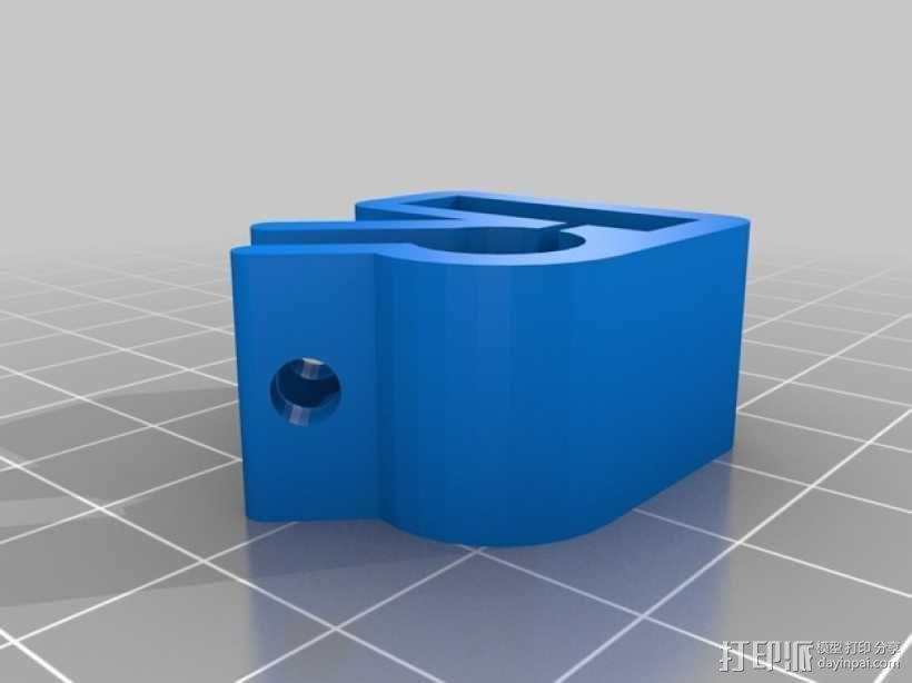 限位开关支架 3D模型  图3