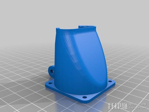 挤出机风扇支架 3D模型  图2