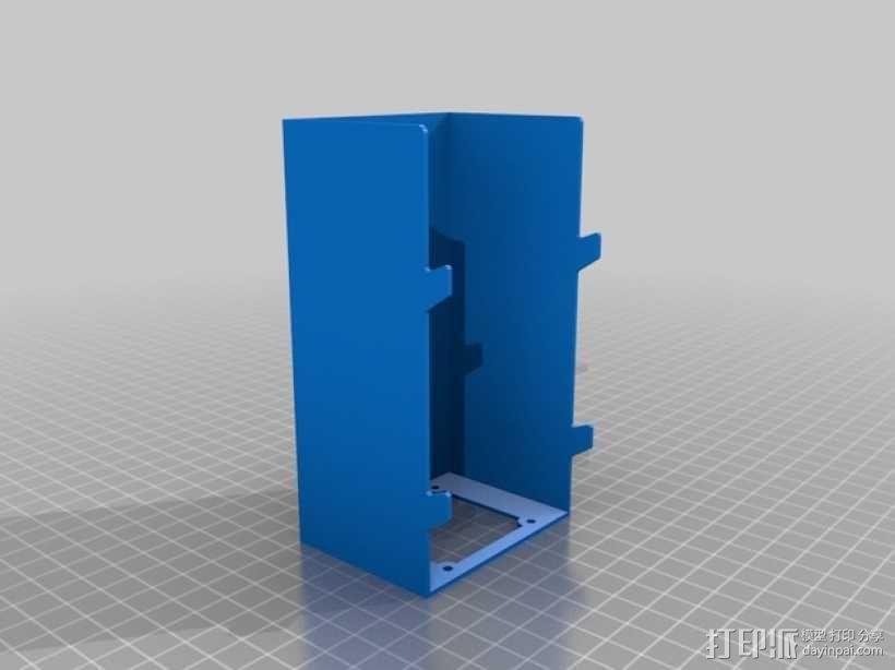 RAMPS 1.4电路板保护罩 3D模型  图1
