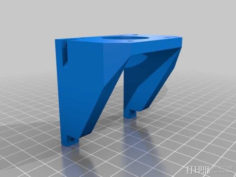 步进马达支架 3D模型  图3