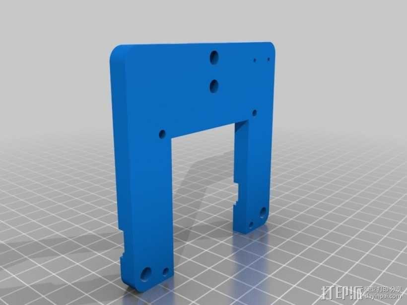 步进马达支架 3D模型  图2