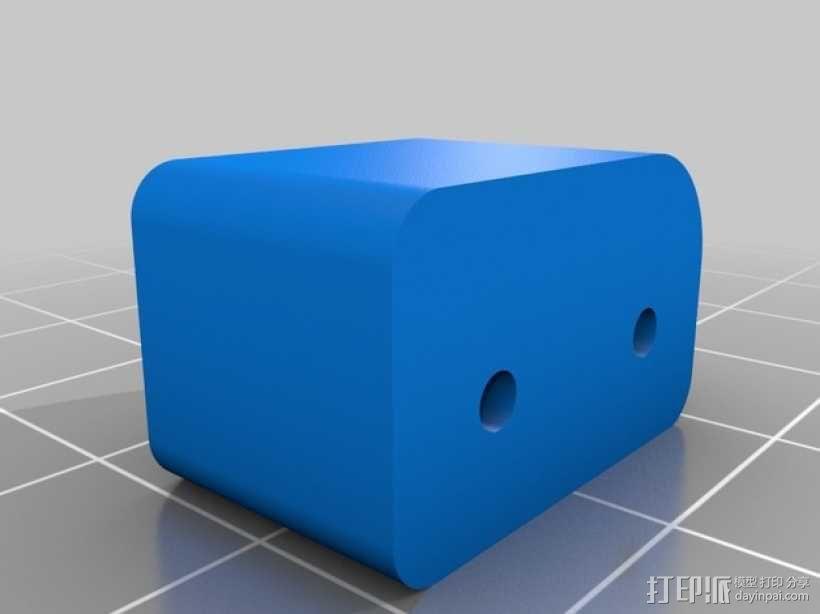 步进马达支架 3D模型  图4