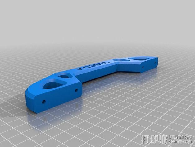 Mini Kossel打印机的线轴支架 3D模型  图2