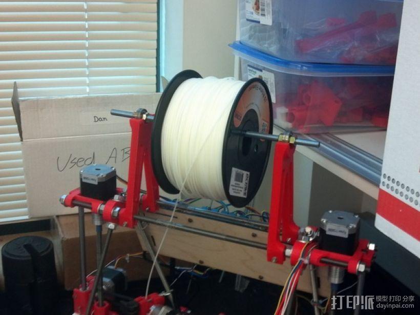 Prusa i2打印机线轴支架 3D模型  图1