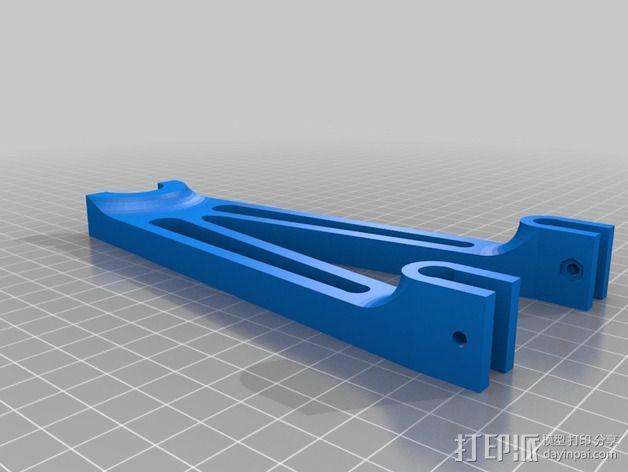Prusa i2打印机线轴支架 3D模型  图2