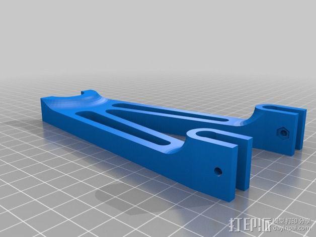 Prusa i2打印机线轴支架 3D模型  图3