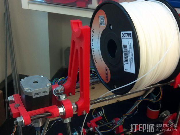 Prusa i2打印机线轴支架 3D模型  图5