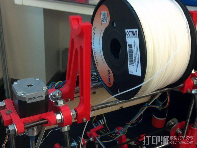 Prusa i2打印机线轴支架 3D模型  图8