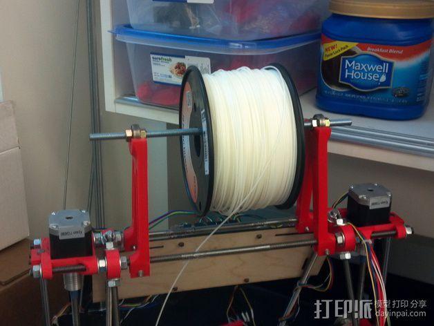 Prusa i2打印机线轴支架 3D模型  图9