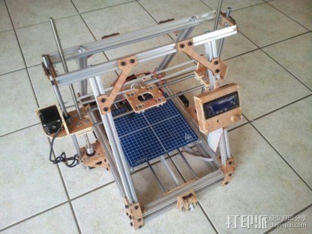 MendelMax打印机木质部件 3D模型  图1