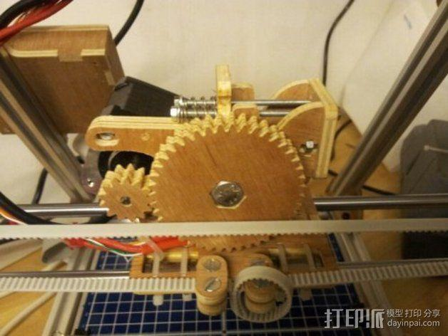 MendelMax打印机木质部件 3D模型  图2
