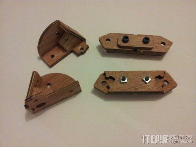 MendelMax打印机木质部件 3D模型  图7