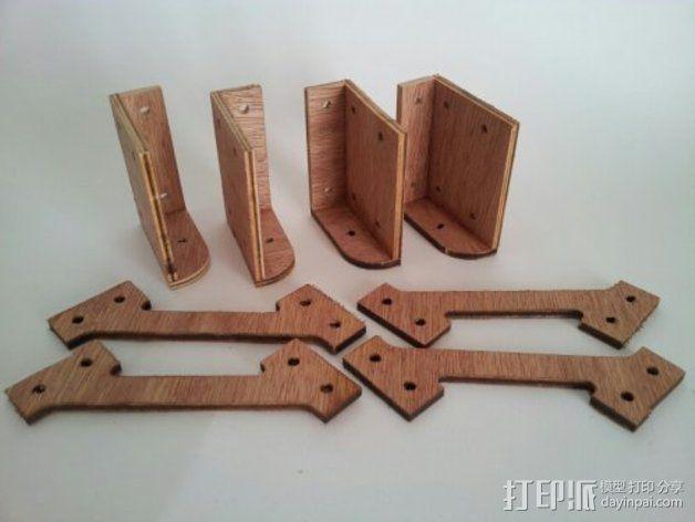MendelMax打印机木质部件 3D模型  图10