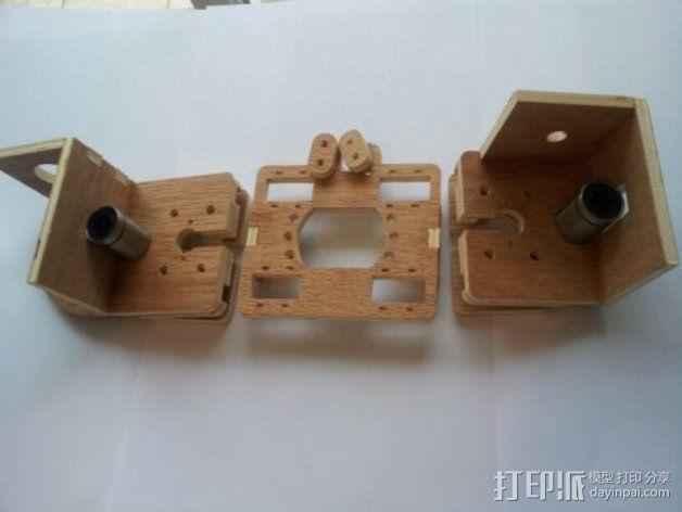 MendelMax打印机木质部件 3D模型  图13