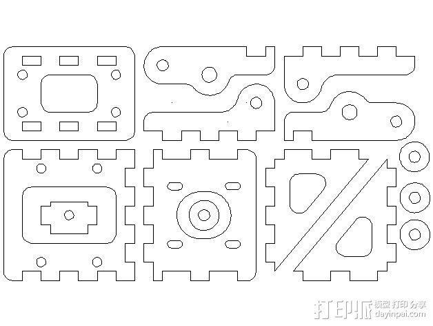 MendelMax打印机木质部件 3D模型  图16