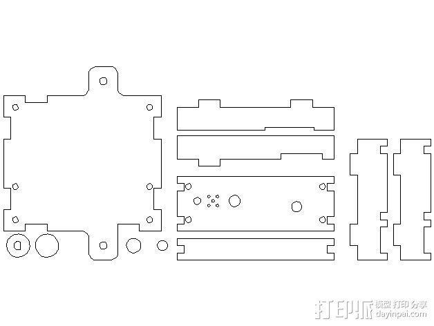 MendelMax打印机木质部件 3D模型  图22