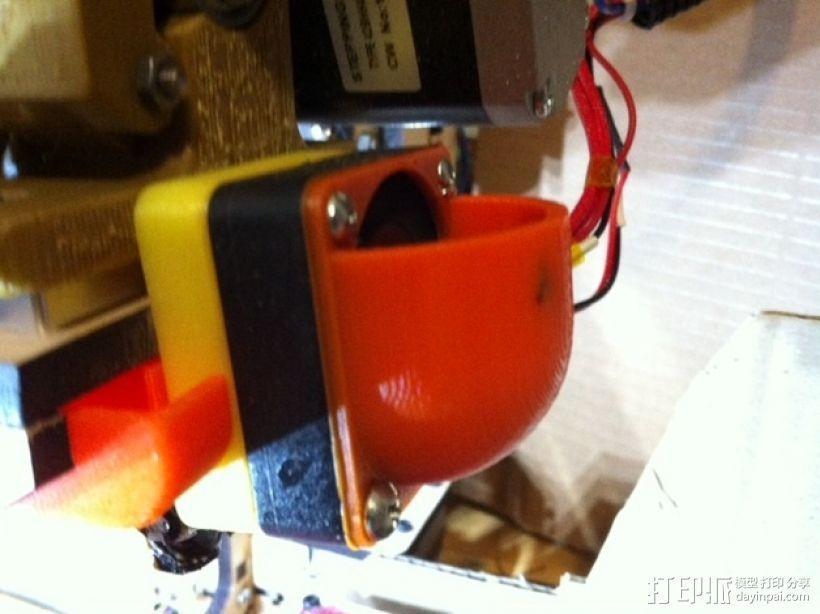 MakerFarm Prusa i3 打印机散热装置 3D模型  图1
