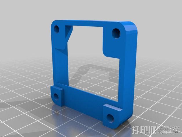 MakerFarm Prusa i3 打印机散热装置 3D模型  图5