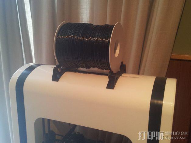 RoBo 3D打印机顶部线轴支架 3D模型  图1