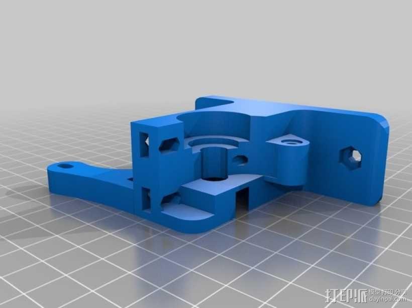 Greg's Wade挤出机的喷头支架 3D模型  图1