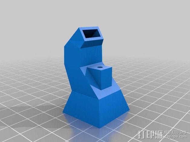 Rostock打印机风扇导管 3D模型  图3