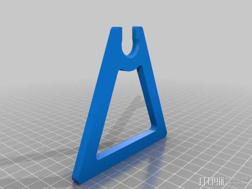 线轴支撑架 3D模型  图4