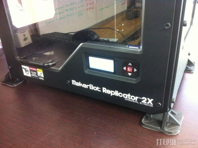 打印机脚垫 3D模型  图1