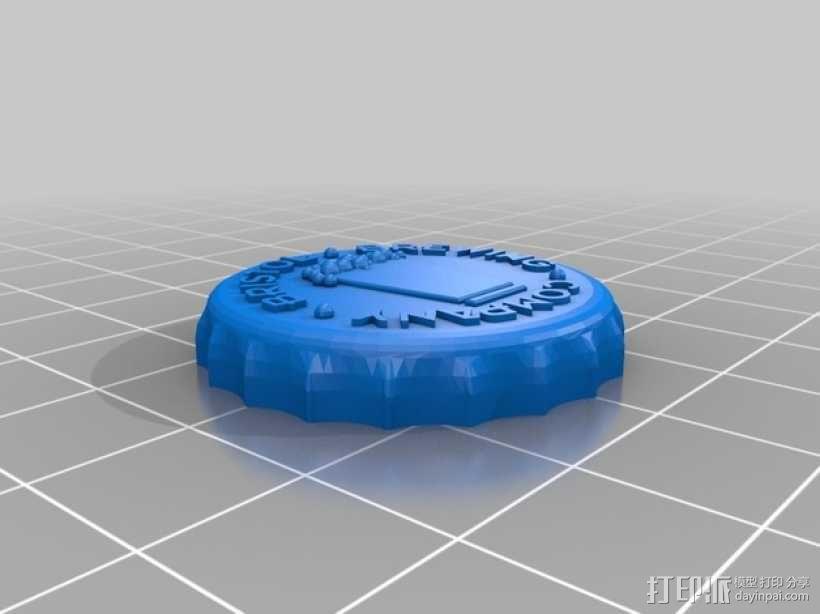 Bristol Brewery啤酒瓶盖 3D模型  图1