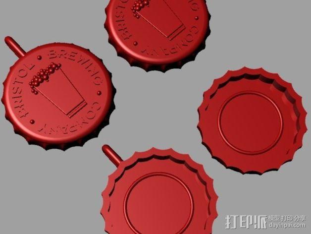 Bristol Brewery啤酒瓶盖 3D模型  图4