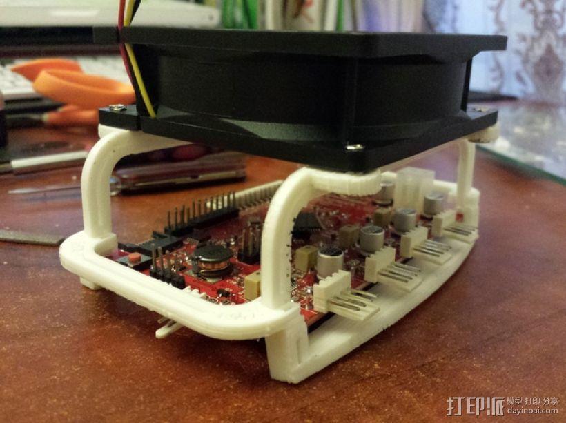 电路板风扇 3D模型  图1