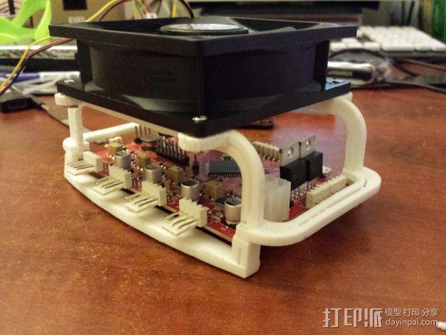 电路板风扇 3D模型  图3