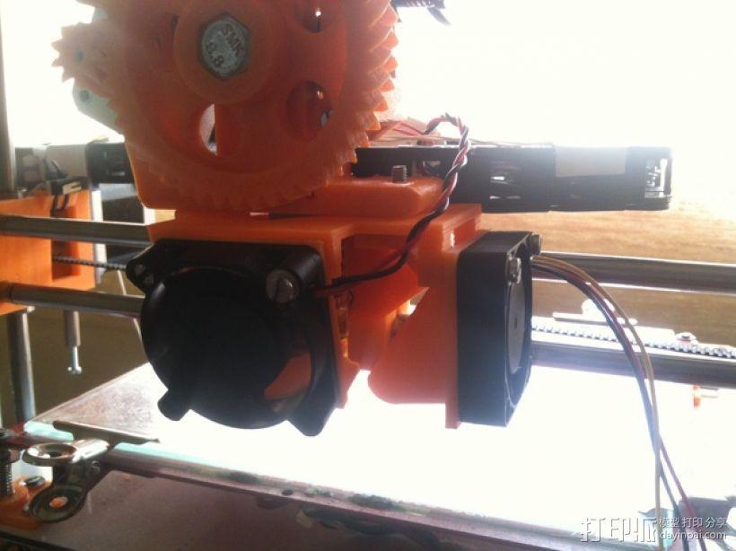 风扇支架(可安装两个风扇) 3D模型  图1