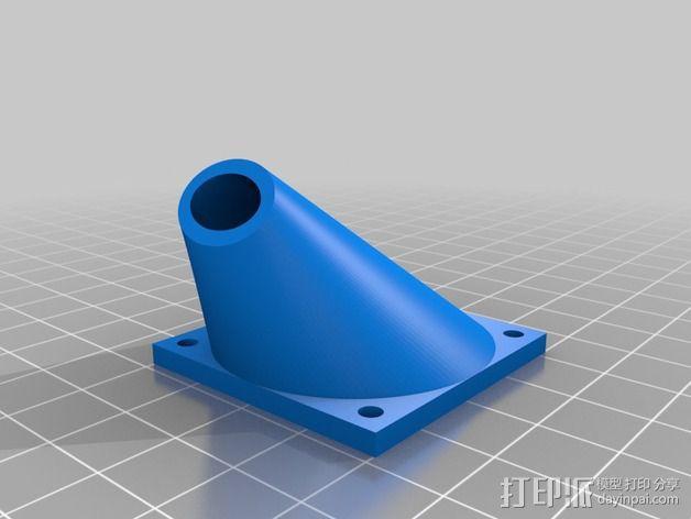 风扇支架(可安装两个风扇) 3D模型  图3
